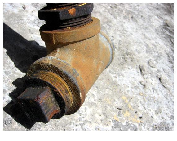 tubo oxidado